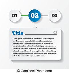 ladda, paper., tre, steg, infographics, design