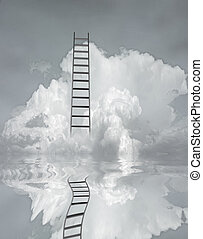 Ladder and flood