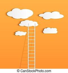 Ladder Clouds Illustration