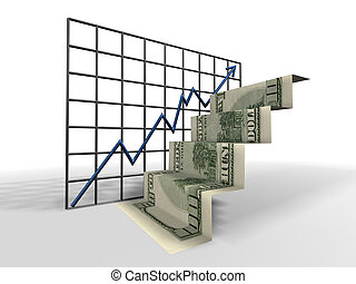 ladder, dollar
