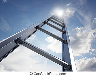 Ladder going up to the sky