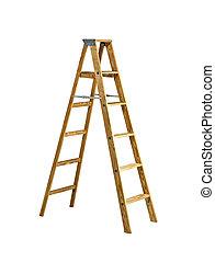ladder, herringbone, witte , vrijstaand