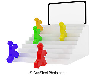 Ladder - High resolution image ladder. 3d illustration over...