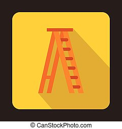 Ladder icon, flat style
