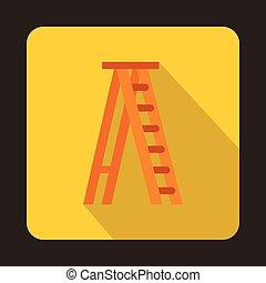 Ladder icon, flat style