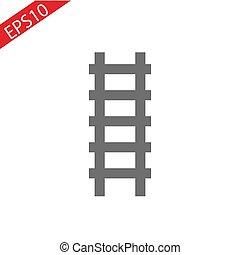 ladder icon, ladder on white background