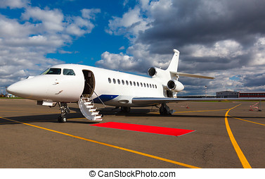 ladder in a private jet - White reactive private jet, the...