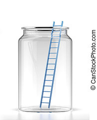 Ladder in jar