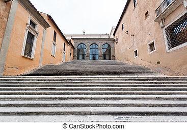 ladder in Monument of Vittorio Emanuele II
