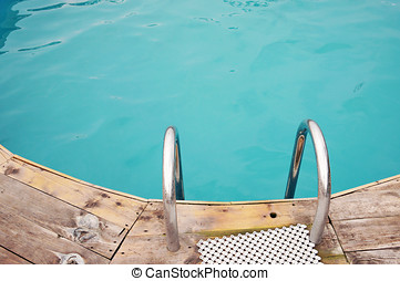 Ladder in the pool