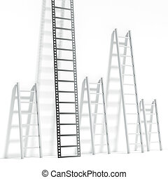 Ladder in the shape of a film