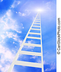 Ladder in the sky - Conceptual image - ladder in the sky