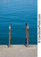 Ladder into the sea
