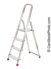ladder isolated on pure white background