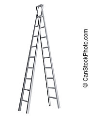 ladder isolated on white background. 10 EPS