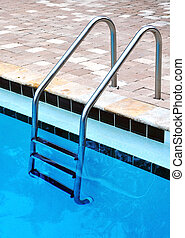 Ladder of a swimming pool