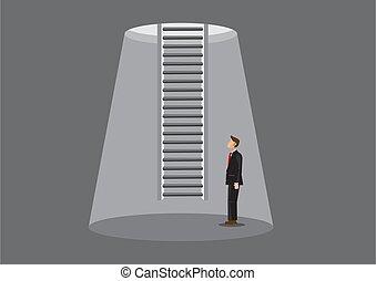 Ladder of Escape Cartoon Vector Illustration - Cartoon ...