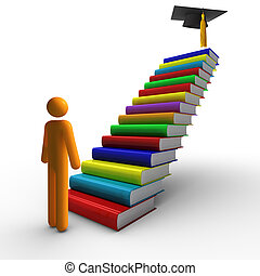 Graduation - ladder of success and Graduation.