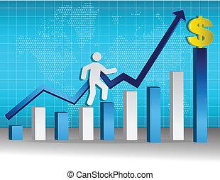 ladder of success concept illustration design