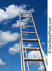 Ladder pointing to the sky