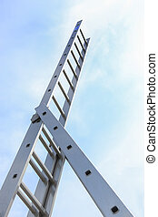 ladder sent to top in sky