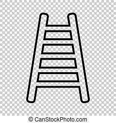 Ladder sign. Line icon