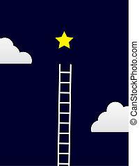 ladder, ster