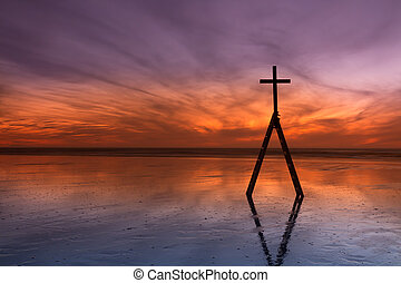 Ladder Sunset Cross