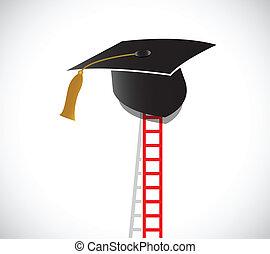 ladder to graduation. illustration design