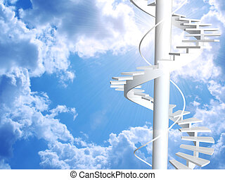 Ladder to paradise - Conceptual image - ladder to paradise