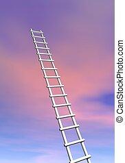 Ladder to success - 3D render
