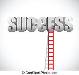 ladder to success illustration design