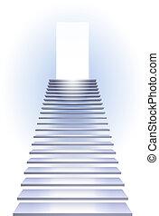 Ladder to success. Illustration on white background.