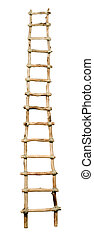 Ladder. - Toy wooden ladder isolated on white background.