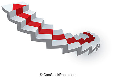 ladder vector - vector illustration of an abstract ladder...