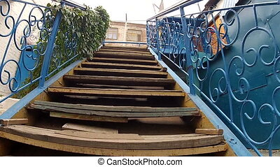 Ladder with handrails