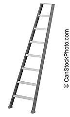 ladder, witte achtergrond, vrijstaand