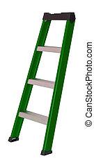 ladder, witte , vrijstaand