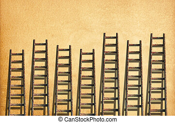 Ladders on paper craft wallpaper ,competition concept