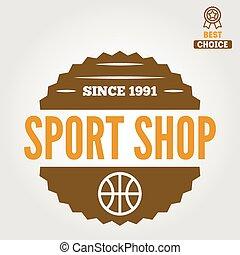 laden, abzeichen, elemente, emblem, weinlese, logotype, sport, oder, logo
