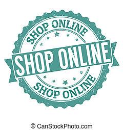 laden, briefmarke, online