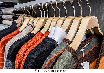 Laden, Kleiderbügel, kleidung