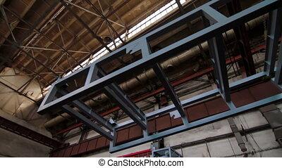 laden, metall, baugewerbe, in, fabrik
