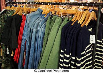 laden, mode, kleidung, kleiderbügel