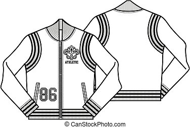 Ladies Baseball Style Jacket