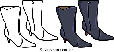 ladies boots - ladies calf length fashion boots in colour ...