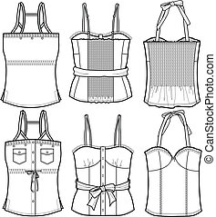 ladies bustier tops
