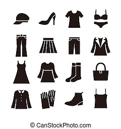 Ladies fashion icon - illustration created by using...