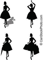 ladies silhouettes