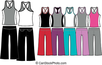 ladies sporty aerobic set